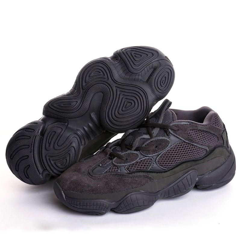 Erkek tasarımcı sneakers Allık Çöl Sıçan 500 Siyah Süper Ay Sarı kanye rahat ayakkabılar çalışan Ayakkabı Erkekler Eğitmenler Kadınlar Rahat ...