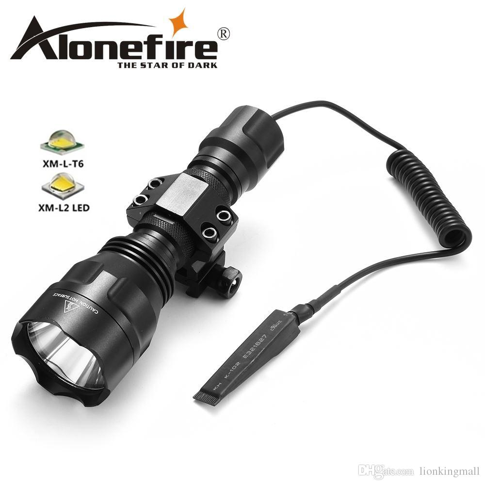 AloneFire C8s LED Tactical Led Flashlight CREE T6 Waterproof 18650 battery touch camping bicycle flash light for Hunting high beam light