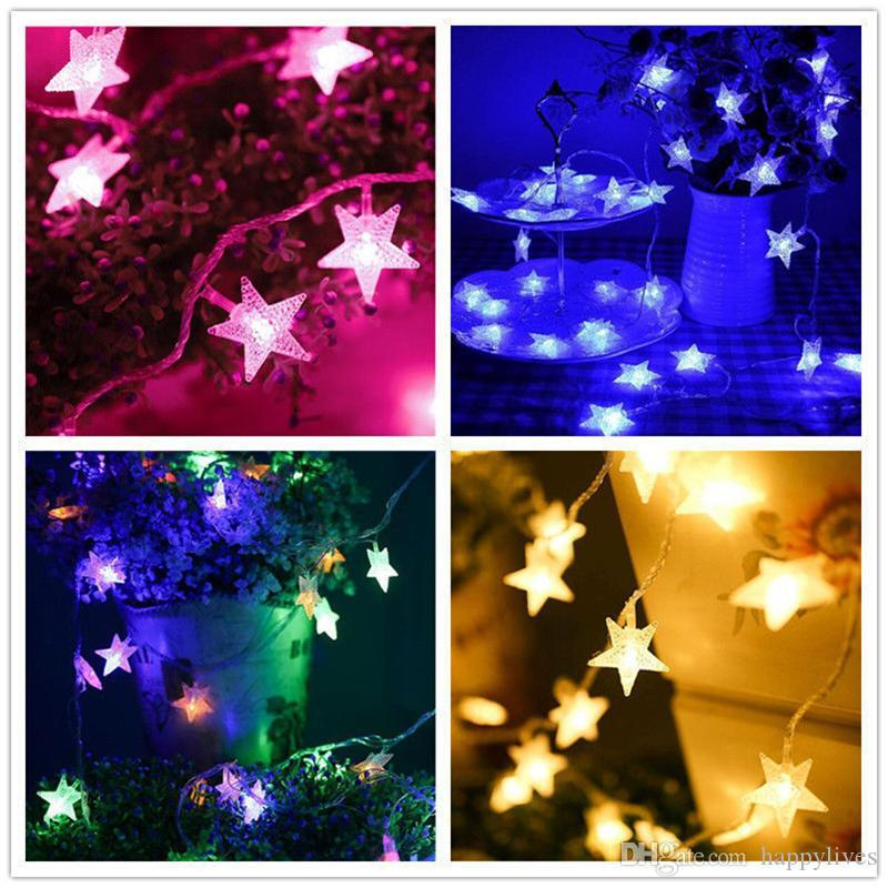 Light Party Festival Star String Lamp Home And Garden LED Decoration High Quality Creative Colorful Christmas Tree Lights Bar