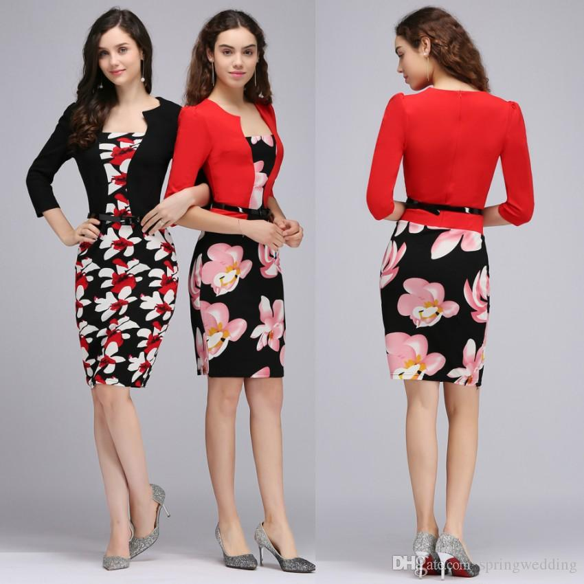 Free Shipping Plus Size Navy Blue Sheath Body Skirt Pencil Causal Party Dresses Fashion Summer Work Dress FS0671