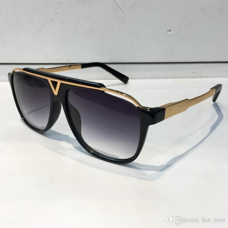 04a0c404d5 Mascot Sunglasses Luxury Popular Retro Vintage Men Brand Designer  Sunglasses Shiny Gold Summer Style Laser Logo Gold Plated With Case Black  Sunglasses ...