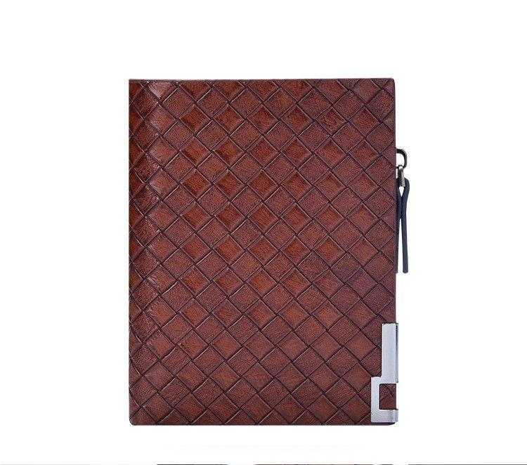 2018 New Genuine Leather Knitting Long wallets famous brand Men's Bi-Fold Clutch Suit Wallet Fashion men wallet Credit Card Holder Purses 20