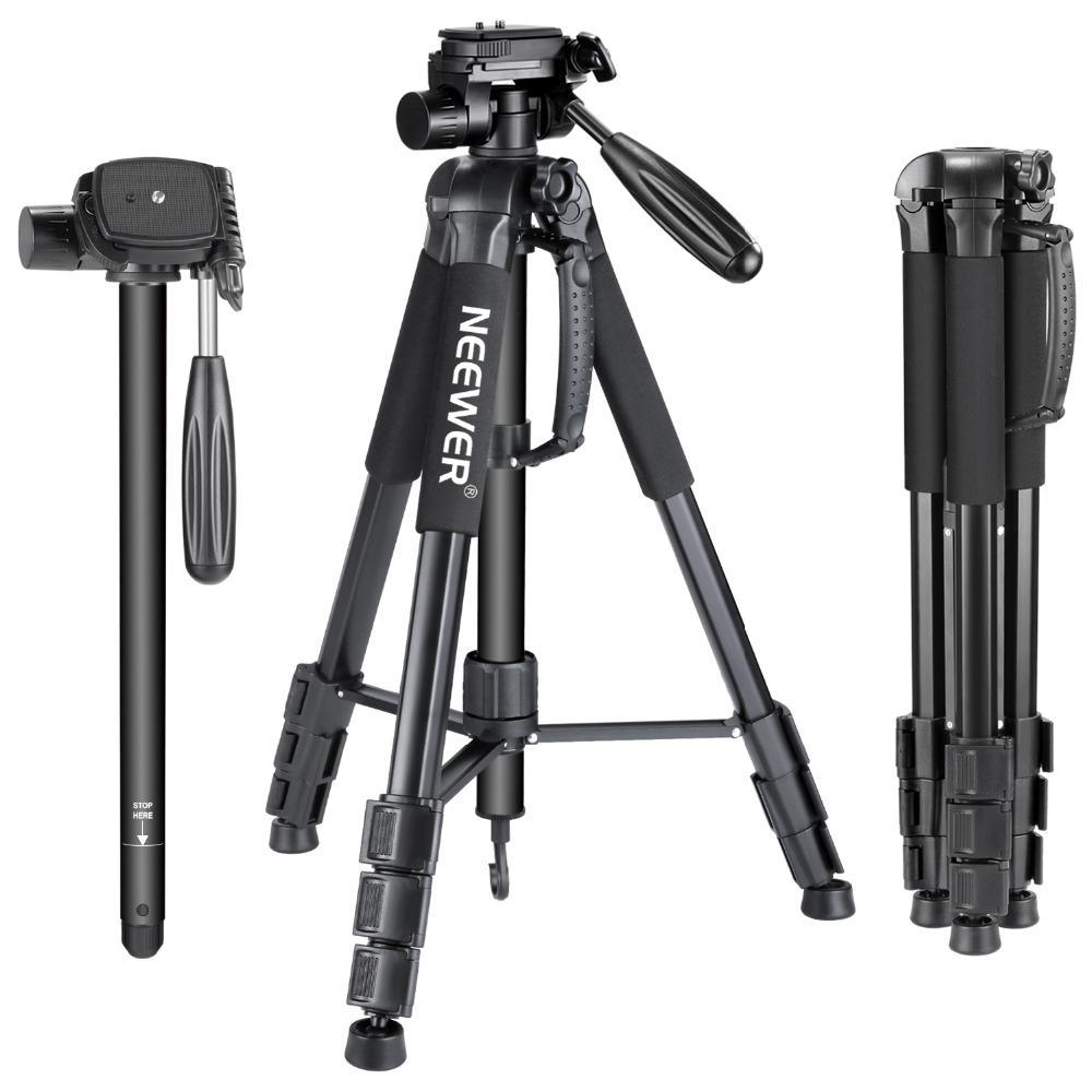 Großhandel Portable 70 Zoll / 177 cm Aluminiumlegierung Kamera Stativ Einbeinstativ mit 3-fach Swivel Pan Head Tragetasche für Canon / Nikon