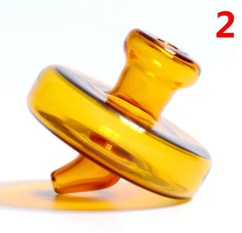 35mm OD Universal Colored Glass UFO Carb Cap Kopuła do kwarców Banger Paznokci Szklane Rury wodne, Ratunki Oil DAB Szkło Bong Rura Pyszne