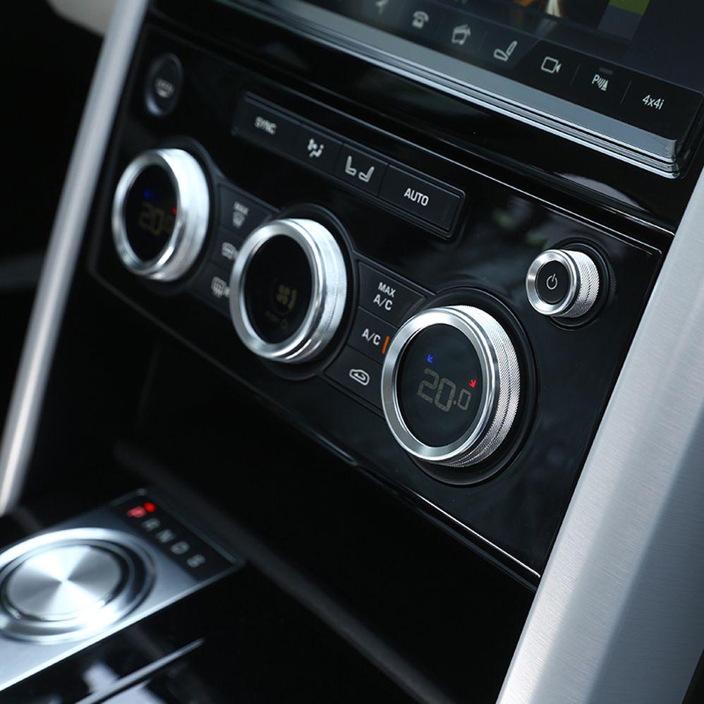 Botón de volumen de la consola botón del perilla del acondicionador de aire interruptor de la cubierta de la etiqueta decorativa para Land Rover descubrimiento 5 LR5 Accesorios Interiores