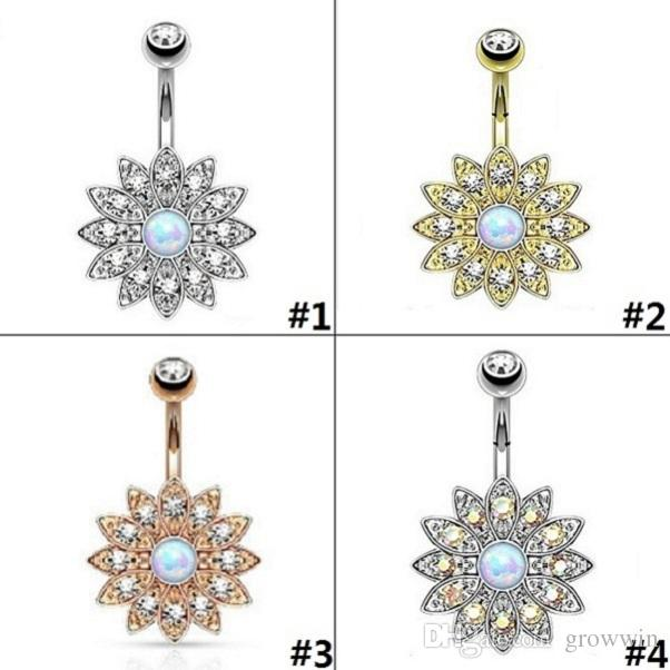 2020 Belly Button Ring Crystal Navel Ring Belly Button Ring Navel