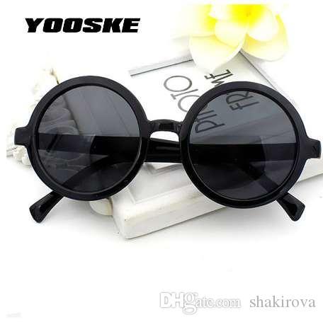 Gafas femeninas clásicas gafas de sol mujeres gafas redondas revestimiento sol vintage retro yooske masculino sol mfiit