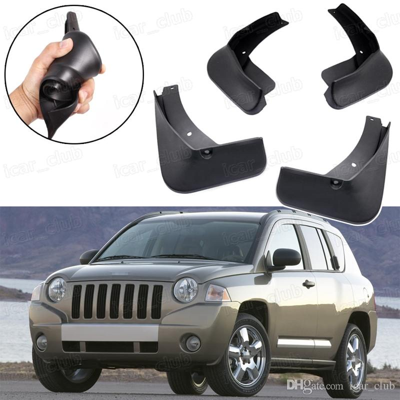 Nuevo 4pcs Guardabarros guardabarros Guardabarros Fender guardabarros apto para Jeep Compass 2007-2010 2008 2009