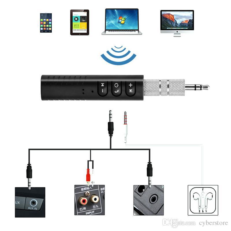 Clip-on Wireless AUX Bluetooth 4.1 Receptor para 3,5 milímetros Car fone de ouvido Bluetooth Speaker Áudio Música adaptador de Jack com microfone