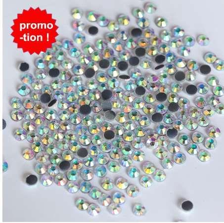 Super Große Förderung 1440 stücke ss16 DMC Kristall AB Eisen Auf Hot Fix Strass Klar AB Hotfix Steine für Hochzeit Kleid Schuhe Y3842