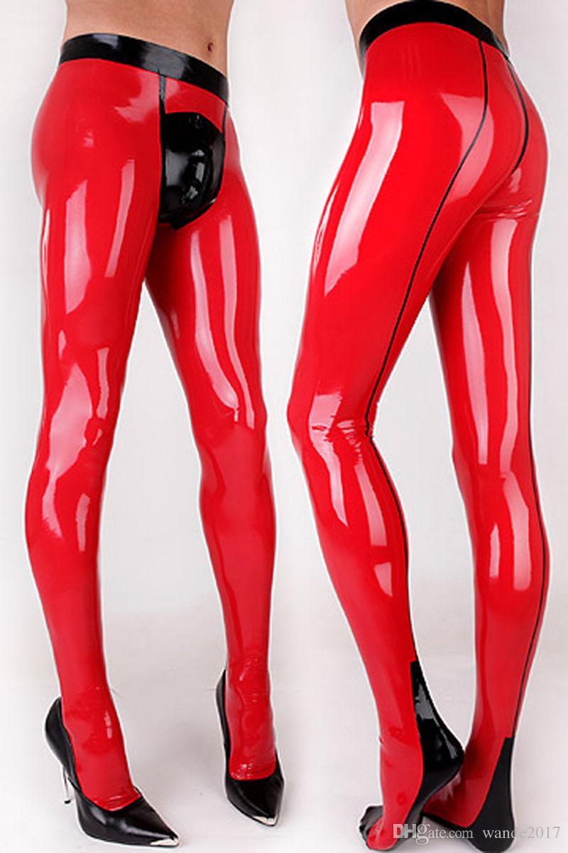 Latex Rubber Men Pants with Socks Gummi 0.4mm Leggings Customize Plus Size