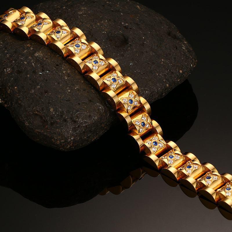Ordre mélangé * TOP hommes de qualité des hommes en acier inoxydable aimant bracelets zircone cubique pierre magnétique soins de santé bracelet couple cadeaux