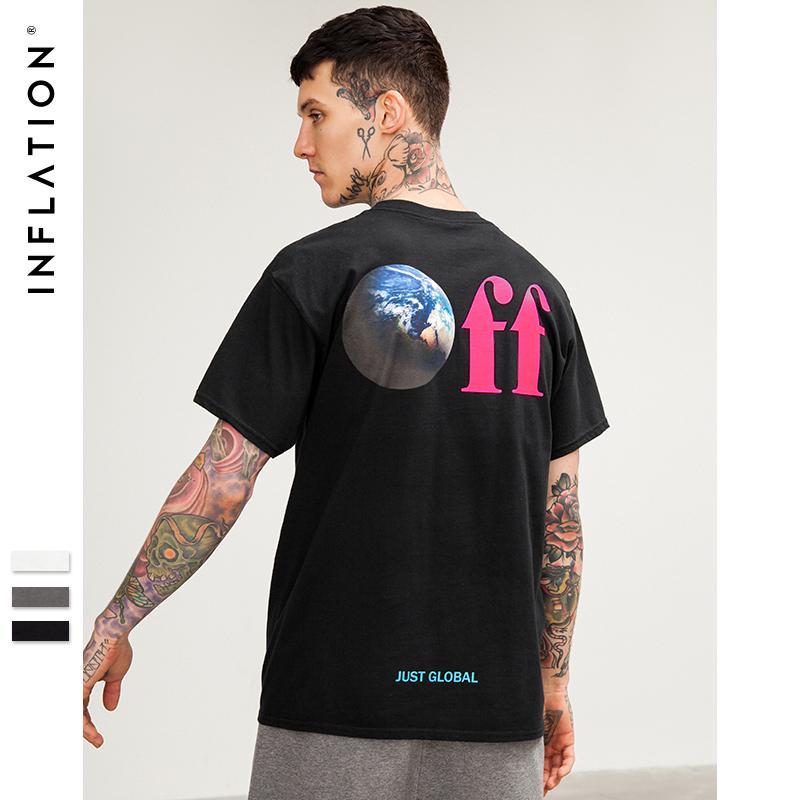 vente en gros 100% coton hommes t-shirt occasionnel design de mode O-cou imprimé top tee-shirt 2018 été t-shirt unisexe tshirt 8231S