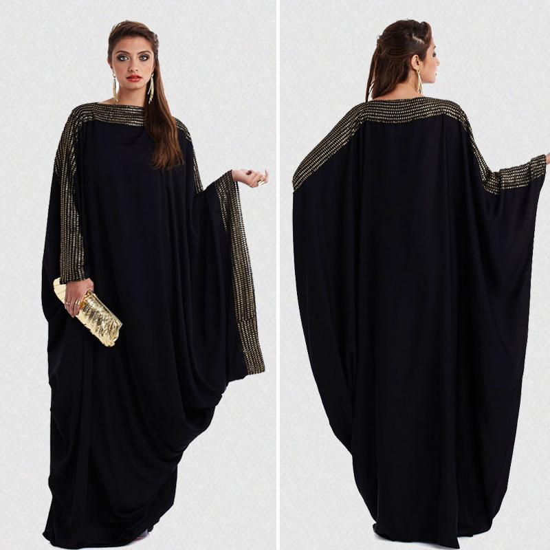 Plus Größe S ~ 6XL Qualität neuer araber elegante lose abaya kaftan islamische mode muslim kleid kleidung design frauen schwarz dubai abaya
