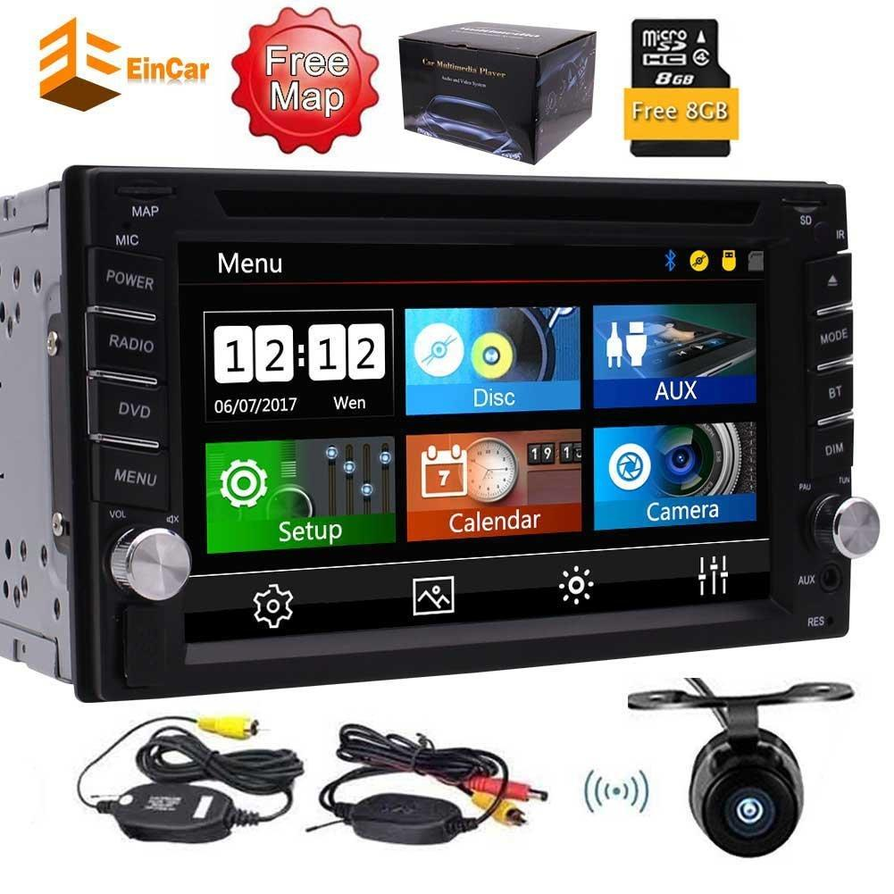 Wireless backup camera+Car dvd Double Din In-Dash GPS Navigation Touch Screen&Backup Camera support SWC FM AM,Bluetooth,USB SD mp3 mp4 music