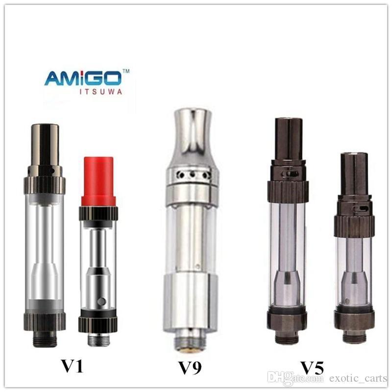 Original Itsuwa Amigo Liberty V9 V5 V1 Empty Vape Cartridges Glass Tank 510 Vaporizer Pen Cartridges Thick Oil Atomizer Ecig