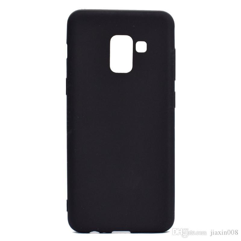 Şeker Renk Kılıf Samsung Galaxy A8 2018 Kapak Yumuşak TPU Ultrathin Mobie Telefon Kılıfları Samsung A8 2018 Için Capinha