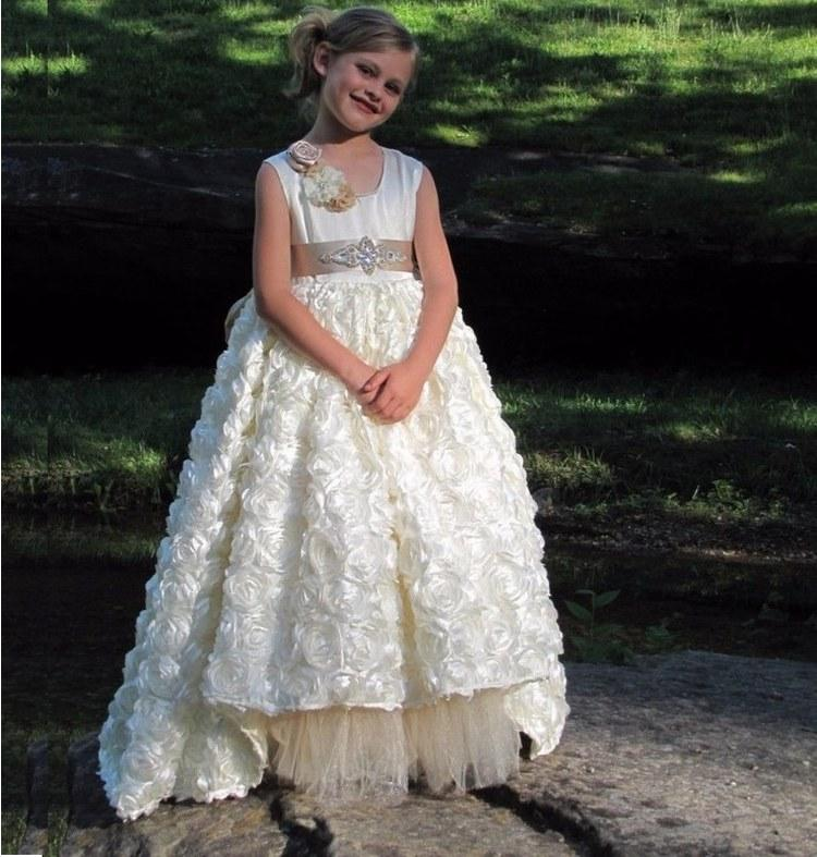Charming Princess Pageant Flower Girl Dresses Bambini Wedding Party Damigella d'onore Bambini Dress Dress Occasionale formale GHYTZ334