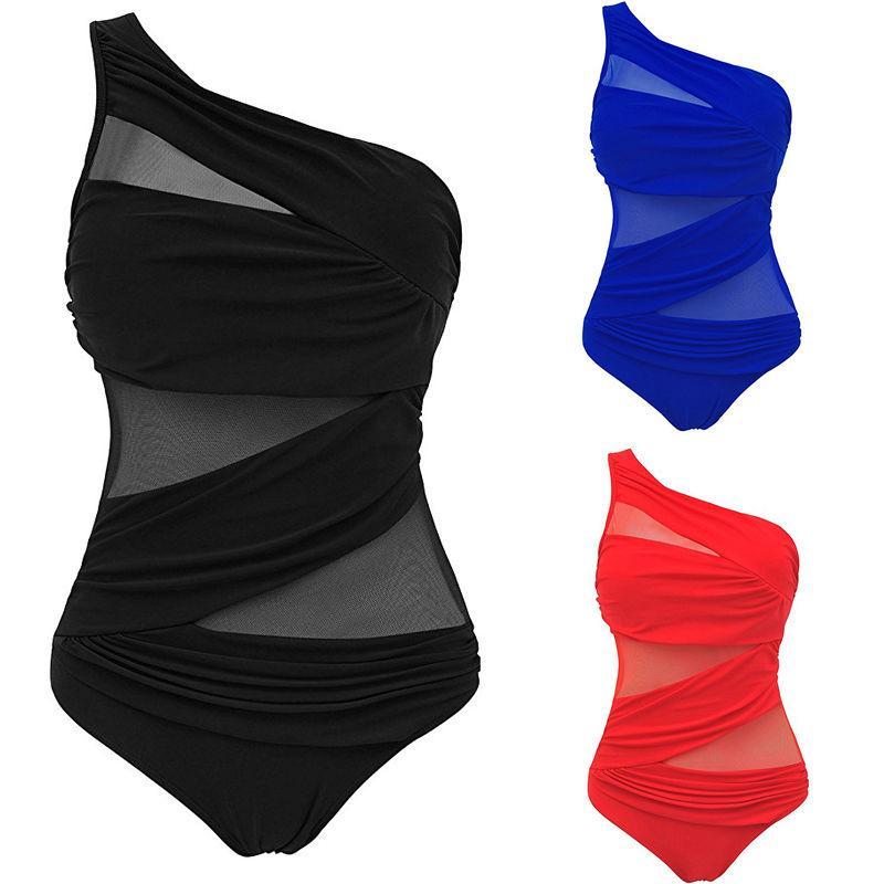 M-4XL مثير قطعة واحدة المايوه 2018 المرأة أعلى زائد حجم ملابس 3xl 4xl رفع المايوه السيدات monokini بدلة السباحة
