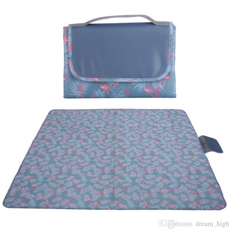 방수 Foldable 야외 캠핑 매트 패드 피크닉 매트 패드 담요 아기 등산 격자 무늬 담요 Moistureproof 비치 담요 매트 145x145cm