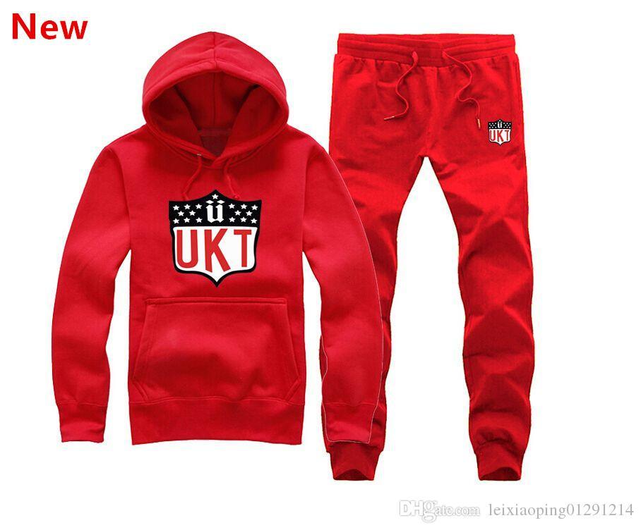 Uomini hip hop abbigliamento unkut set felpa con cappuccio + pantaloni felpa pullover casual streetwear sportswear maschio famoso marchio Rock Tute L11