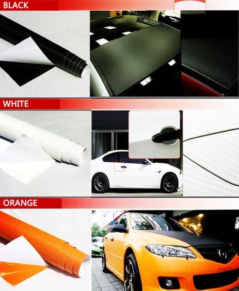 2PCS 127CM*30CM 3D Color Modification Film Car Interior Whole Vehicle Color Change Paste Carbon Fiber Color Change Sticker