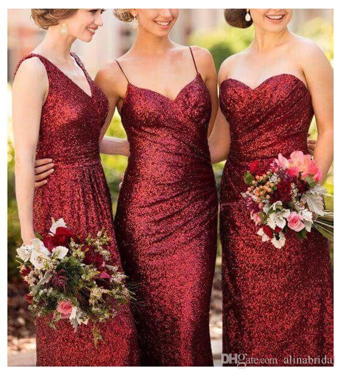 2018 ganar vestidos de dama de honor rojos vestidos formales sexy sin mangas largos vestidos para ocasiones especiales para bodas tamaño personalizado por encargo