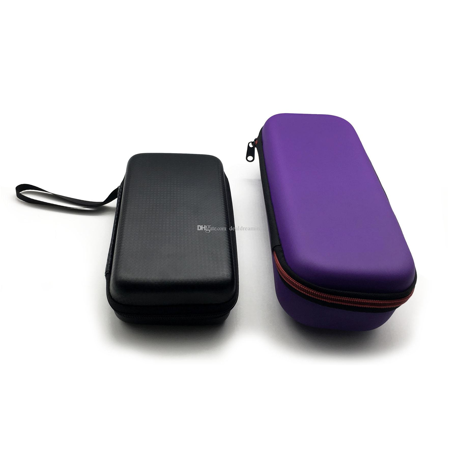 Leather Zipper Cases Carrying Case Carry Storage Box for Cosmetic Tools E Cig Atomizer Evod Battery Ego Kit