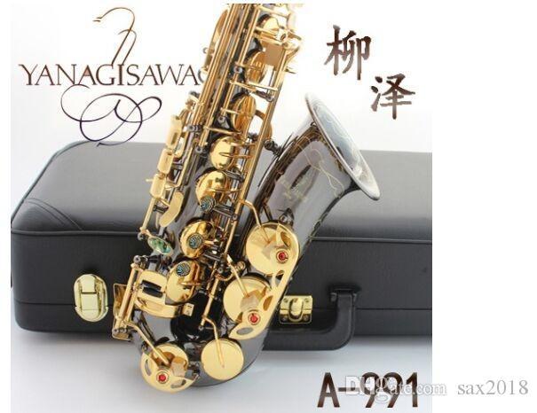 Saxophone Alto instrument Japan YANAGISAWA new E Alto Saxophone instrument drop / wind / tube black nickel gold Sax