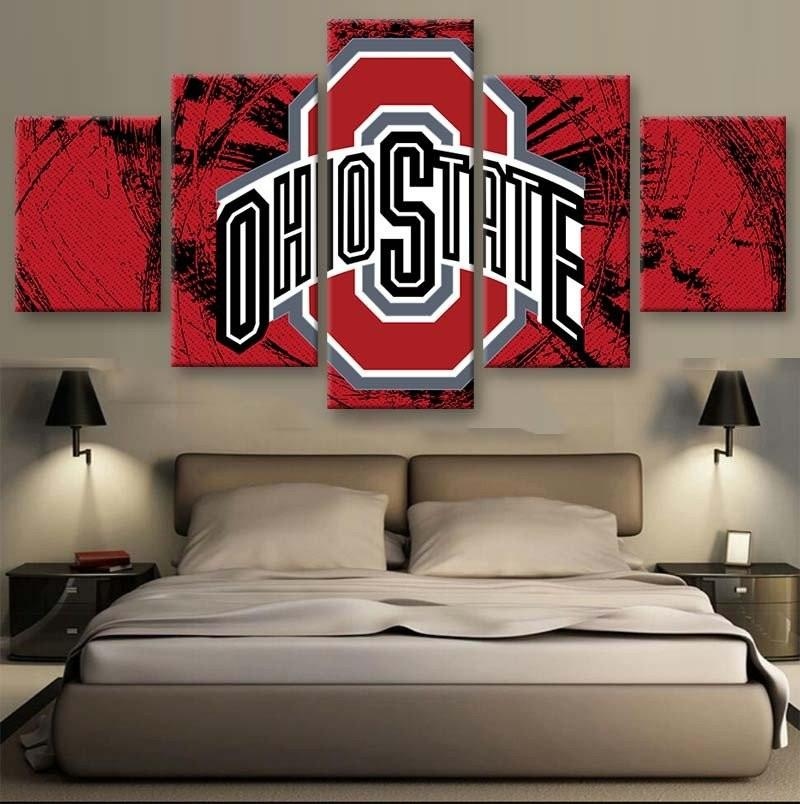 block ohio state Football Sport Poster 5 Pcs canvas painting pictures living room pictures wall art cuadros decorative