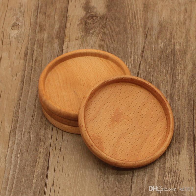 كأس ماتس الوسادات الخشبية حماية الحرارة الصلبة المواد الخشبية الرجعية المطبخ الطبيعي جديد حار بيع 4 5dr الثاني