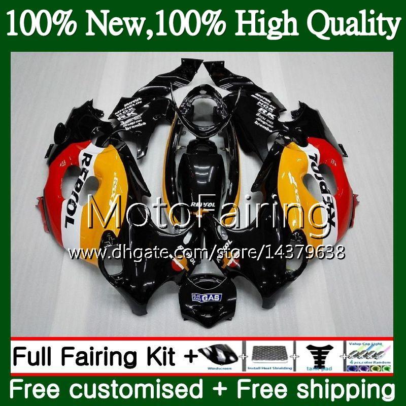 Cuerpo para SUZUKI KATANA GSXF 600 750 GSXF600 98 99 00 01 02 21MF20 GSX600F GSXF750 1998 1999 2000 2001 2002 Repsol Orange Fairing Bodywork