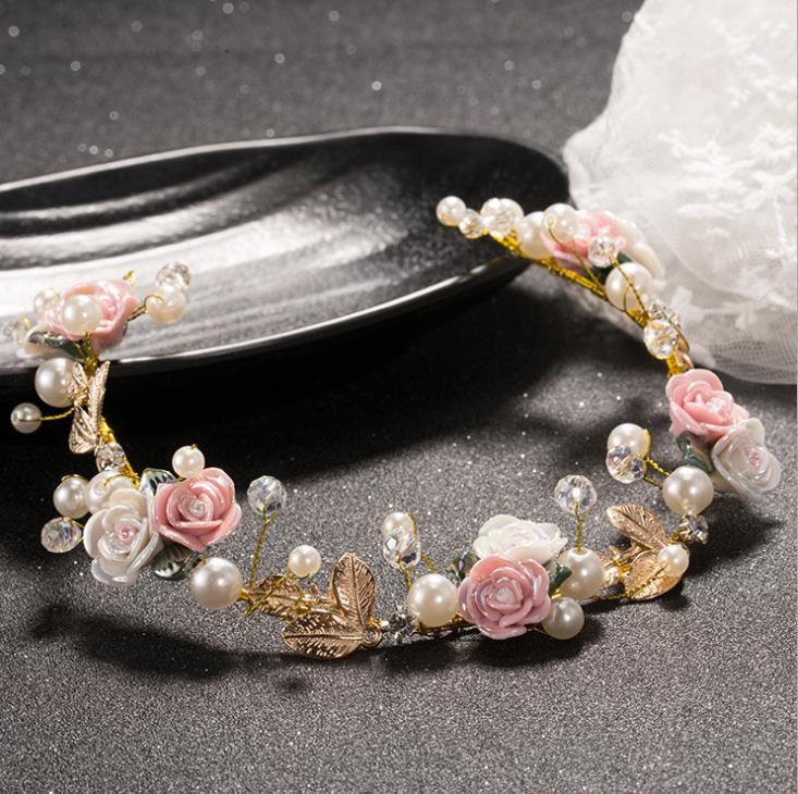 New Pearl Copricapo morbida catena, coreano trapano diamanti accessori da sposa copricapo accessori