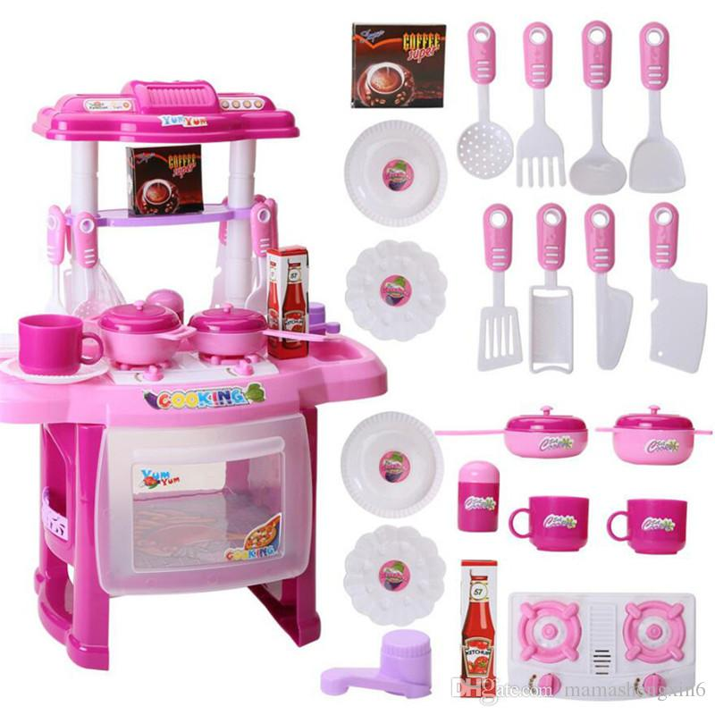 New Kids Kitchen Appliances Set Children Kitchen Toys Large