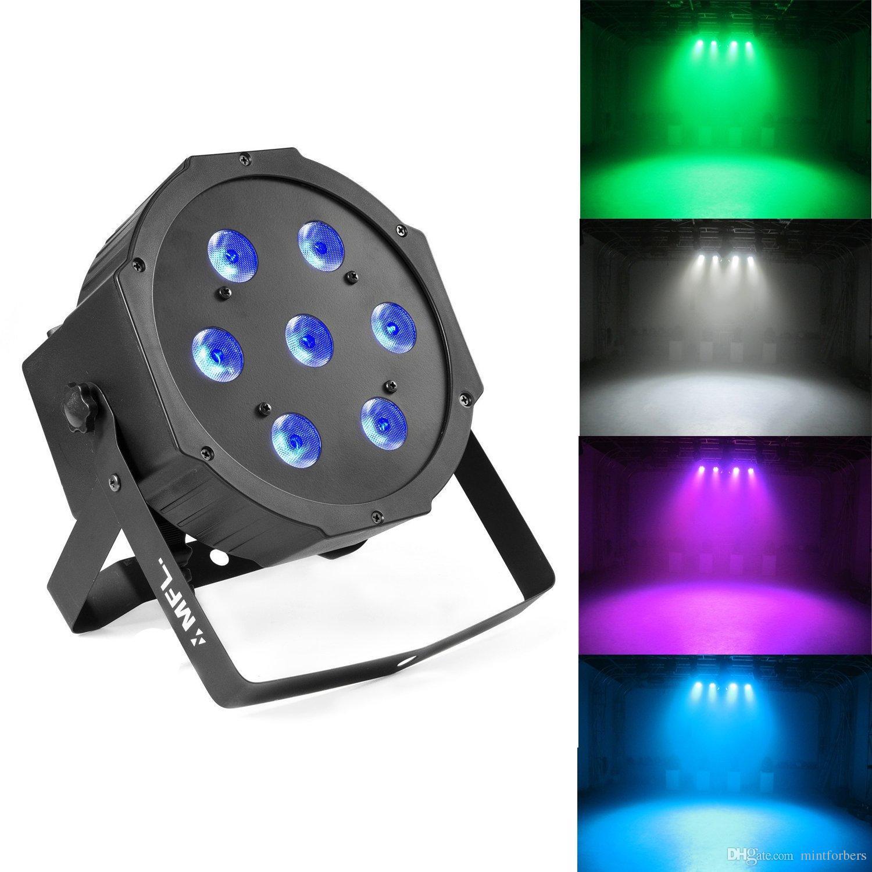 7x10W RGBW Scena DJ Oświetlenie LED DMX Par Can Light Party Lights DJ Disco Lights Wash Effect Par Light for Party Wedding Church