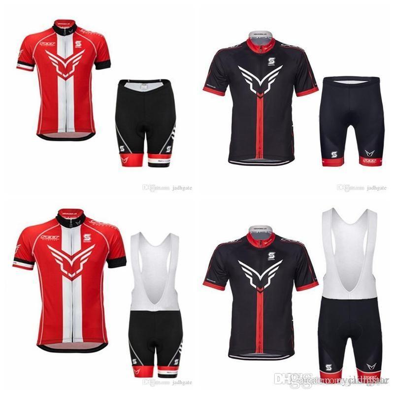 Feltro estate degli uomini in bicicletta Jersey Ropa Ciclismo traspirante Bike Abbigliamento Quick-Dry biciclette Sportwear GEL Pad Salopette F1901