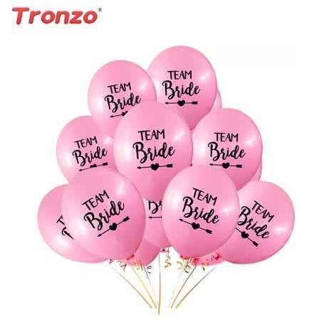 Свадьба воздушные шары день латекс 10шт Tronzo команда невесты свадьба обручальное Валентина украшения девичник ну вечеринку