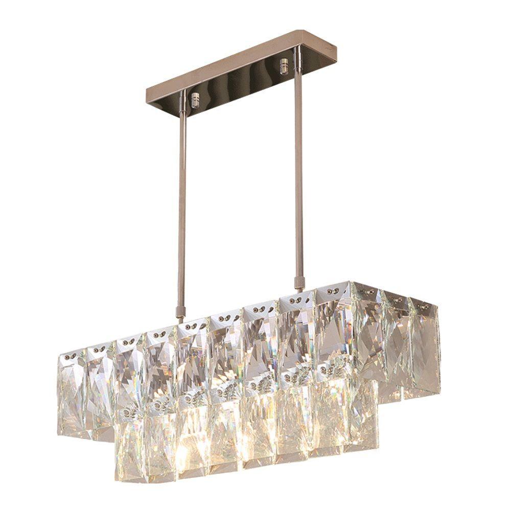 Modern Crystal Chandelier Rectangle Dining Room Lighting Fixtures Luxury  Kitchen Island LED Lustres De Cristal Pendant Lamp Brass Chandelier Gold ...