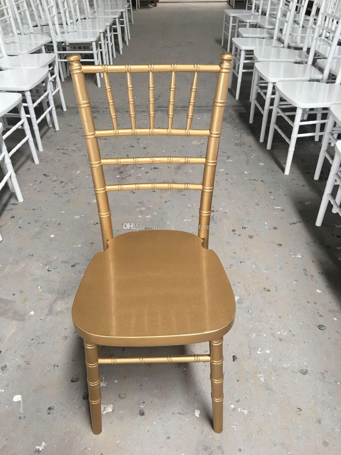 low price UK style golden / limewash camelot chiavari banquet chair for event