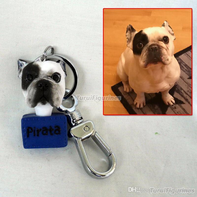 Özel araba Anahtarlık anahtarlık fotoğraf araba anahtarlık Hediye el yapımı Heykel sizin pet mini size mini me hediye bebek özelleştirilmiş