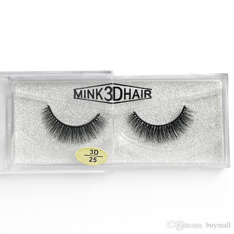 Wiederverwendbare 3D Nerz Haar Wimpern handgemachte dicke natürliche lange gefälschte Wimpern 12 Arten verfügbar DHL geben Wimpern Make-up
