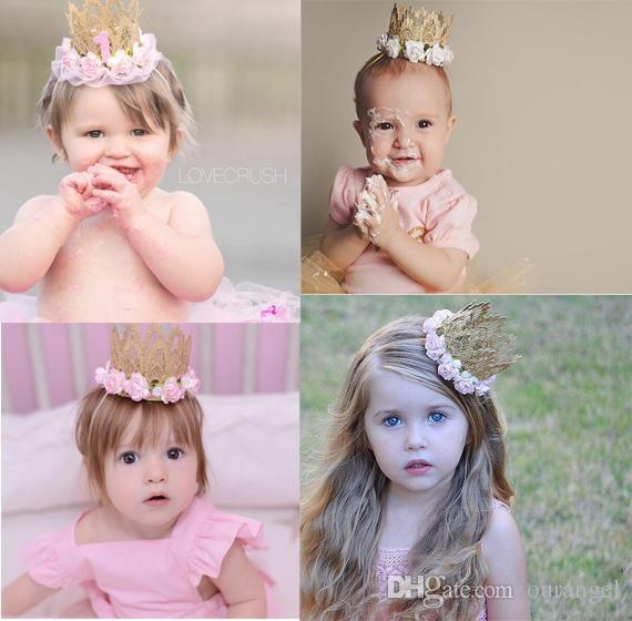Girl Infant Rhinestone Tiara Crown Zone Hairband Baby Hair Band Baby Headwear