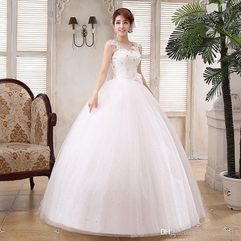 Real Photo Customizd New Korean Style Wedding Dress White Princess ...