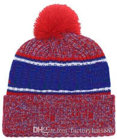 2019 Autumn Winter hat Sports Hats Custom Knitted Cap with Team Logo Sideline Cold Weather Knit hat Soft Warm Buffalo Beanie Skull Cap