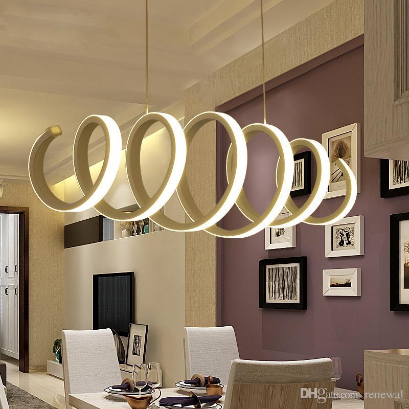 Kronleuchter Aluminium Acryl Led Pendelleuchten Für Zu Hause Mit Büro Mit Esszimmer Bar Küche Hängen Led Pendelleuchte Leuchte