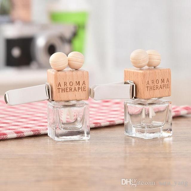 6 ml Car Ambientador Decoración Aceite Esencial Perfume Botella Vacía Cuerda colgante Colgante Aromatherapy Difusor Lin3630