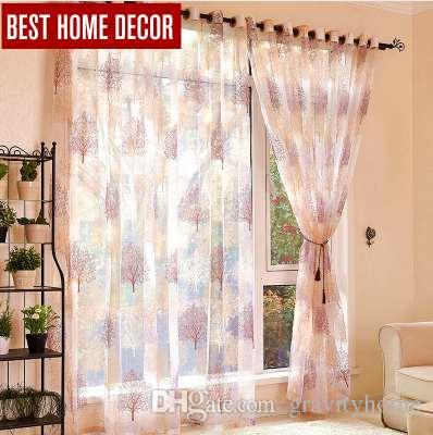 Bester Hauptdekor beendete reine Fenstervorhänge für Wohnzimmer das Schlafzimmer moderne Burnouttüllvorhangfenster Vorhangbehandlungsvorhänge