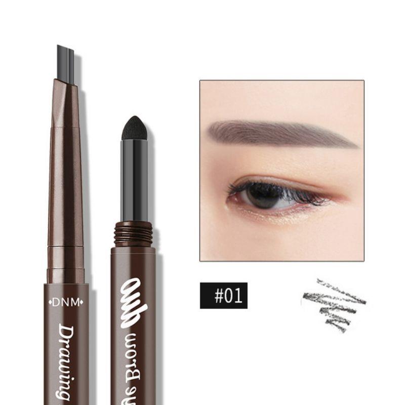 Cosmetici 5 colori della polvere della penna del fronte dell'occhio impermeabile duraturo di trucco della matita del sopracciglio della doppia testa 3D