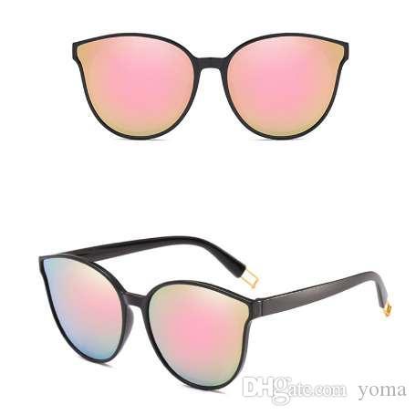 Мода женщины цвет роскошный плоский топ Cat Eye солнцезащитные очки элегантный oculos де соль мужчины двойной Луч негабаритных солнцезащитные очки UV400