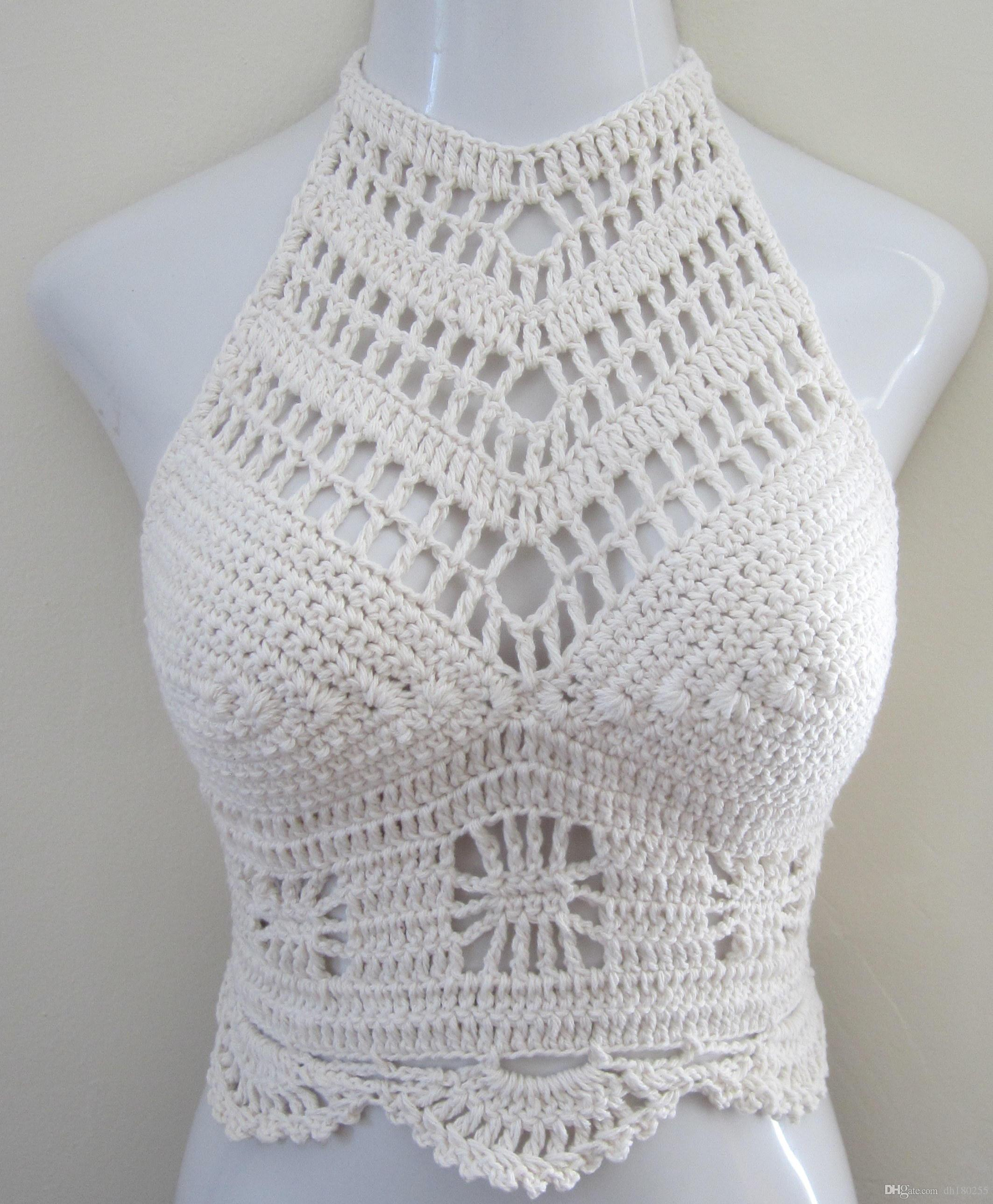 2019 White Crochet Top Crochet Halter Tops Festival Halter Top Festival Clothing Gypsy Clothing Boho Top Beachwear Spider Top Gypsy Top From